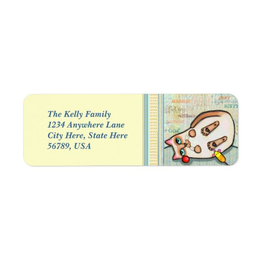 Siamese Cat Custom Return Address Labels