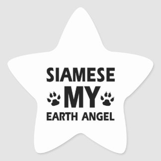 SIAMESE CAT DESIGN STAR STICKER