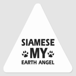 SIAMESE CAT DESIGN TRIANGLE STICKER