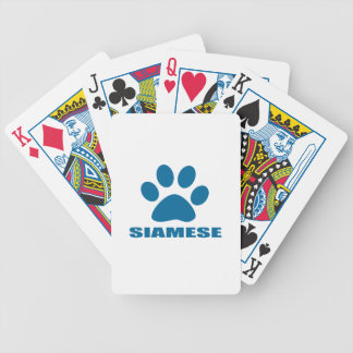 SIAMESE CAT DESIGNS BICYCLE PLAYING CARDS