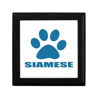 SIAMESE CAT DESIGNS GIFT BOX