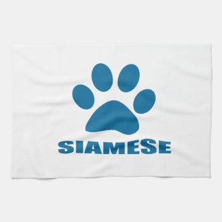 SIAMESE CAT DESIGNS KITCHEN TOWEL