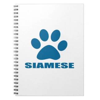 SIAMESE CAT DESIGNS NOTEBOOK
