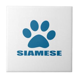 SIAMESE CAT DESIGNS TILE