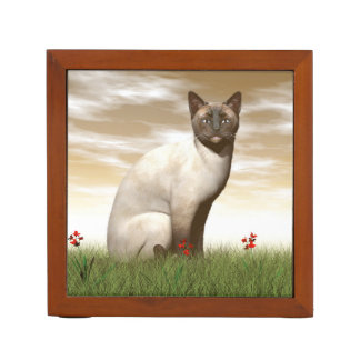 Siamese cat desk organizer