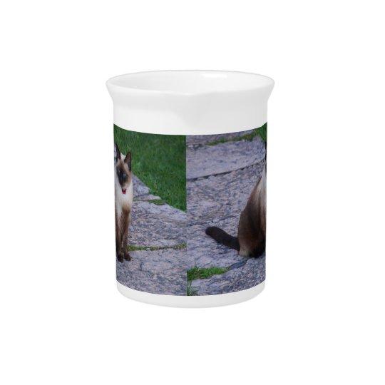 Siamese Cat Drink Pitcher