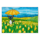 Siamese Cat Easter Spring Blank Greeting Card