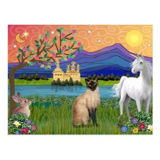 Siamese Cat - Fantasy Land Postcard