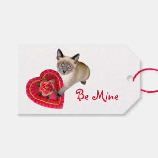 Siamese Cat Heart Box Gift Tags Pack Of Gift Tags