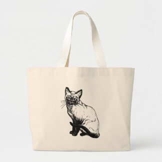 Siamese Cat Large Tote Bag