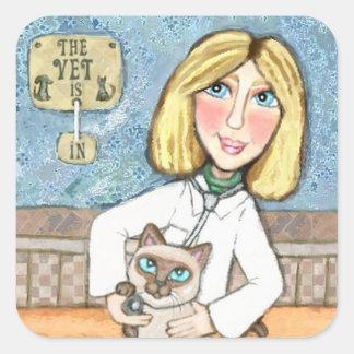 Siamese Cat Lover's Happy Veterinarian Stickers