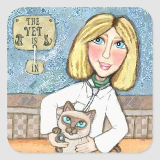 Siamese Cat Lover's Happy Veterinarian Stickers