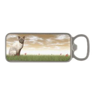 Siamese cat magnetic bottle opener