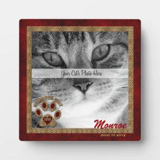 Siamese Cat Memorial Photo Plaque