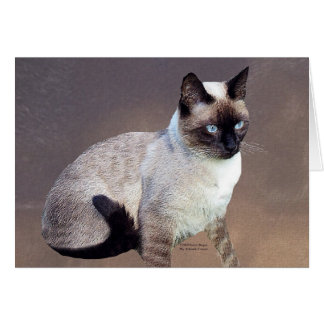 Siamese Cat Painting Card