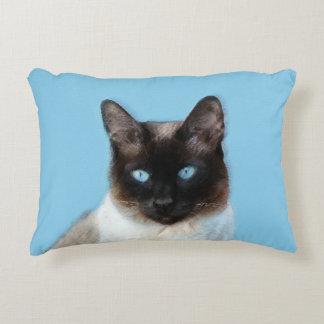 Siamese Cat Painting - Cute Original Cat Art Decorative Pillow