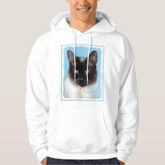 Siamese Cat Painting - Cute Original Cat Art Hoodie