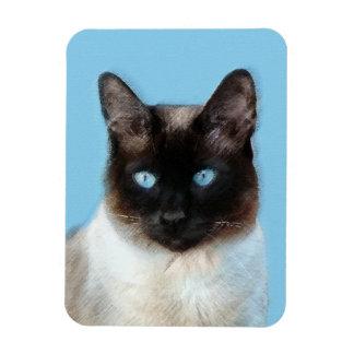 Siamese Cat Painting - Cute Original Cat Art Magnet
