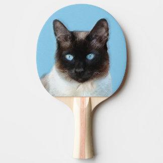 Siamese Cat Painting - Cute Original Cat Art Ping Pong Paddle