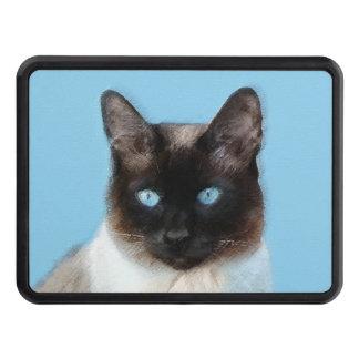 Siamese Cat Painting - Cute Original Cat Art Trailer Hitch Cover
