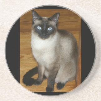 Siamese Cat Pet Animal Office Peace Love Destiny Coaster