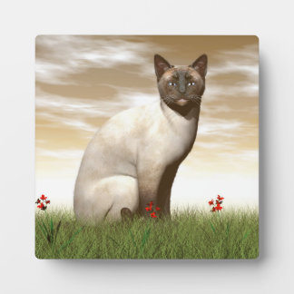 Siamese cat plaque