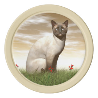 Siamese cat poker chips