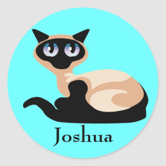 Siamese Cat Round Sticker
