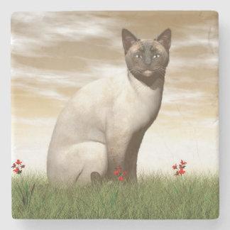 Siamese cat stone coaster