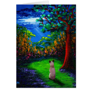 Siamese Cat Thunderstorm Creationarts Card