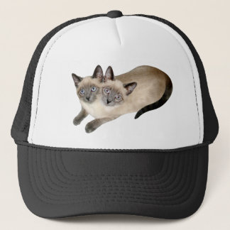 Siamese Cat Twins Trucker Hat