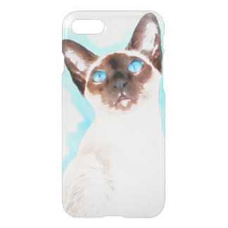 Siamese Cat Watercolor Art iPhone 7 Case