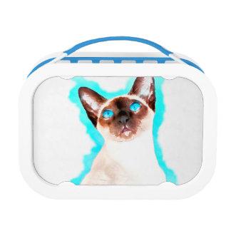 Siamese Cat Watercolor Art Lunch Box