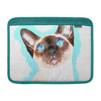 Siamese Cat Watercolor Art MacBook Sleeve
