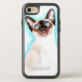 Siamese Cat Watercolor Art OtterBox Symmetry iPhone 7 Case