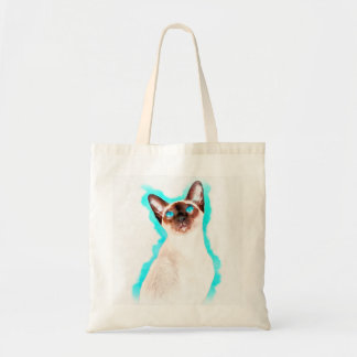Siamese Cat Watercolor Art Tote Bag