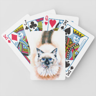 Siamese Cat Watercolor Bicycle Playing Cards