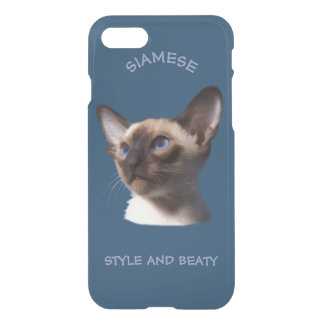 Siamese Cat Watercolor Drawing iPhone 7 Case