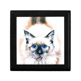 Siamese Cat Watercolor Gift Box