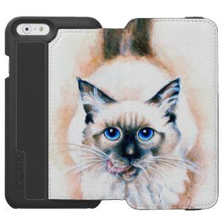 Siamese Cat Watercolor Incipio Watson™ iPhone 6 Wallet Case