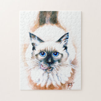 Siamese Cat Watercolor Jigsaw Puzzle
