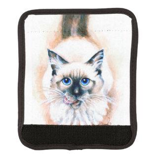 Siamese Cat Watercolor Luggage Handle Wrap
