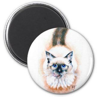 Siamese Cat Watercolor Magnet
