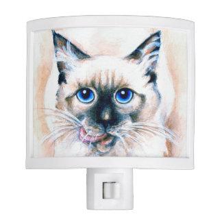 Siamese Cat Watercolor Night Lites