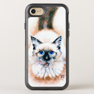Siamese Cat Watercolor OtterBox Symmetry iPhone 8/7 Case