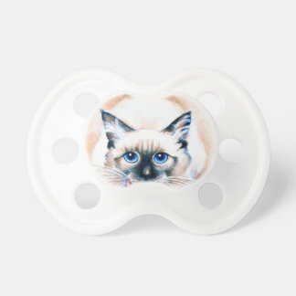 Siamese Cat Watercolor Pacifier