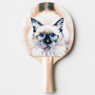Siamese Cat Watercolor Ping Pong Paddle