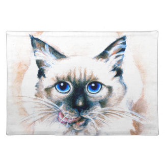 Siamese Cat Watercolor Placemat