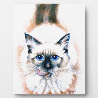 Siamese Cat Watercolor Plaque