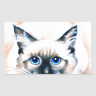 Siamese Cat Watercolor Sticker